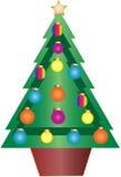 piłek bauble boże narodzenia dekorujący drzewo Zdjęcie Royalty Free