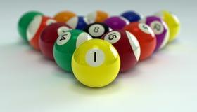 piłek billiards Zdjęcie Royalty Free