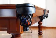 piłek billiards kieszeni stół Zdjęcie Royalty Free