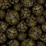 piłek boże narodzenia deseniują bezszwowego Paisley hindusa stylu deco Obrazy Royalty Free