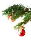 piłek bożych narodzeń colour ornamentuje drzewa wo Fotografia Royalty Free