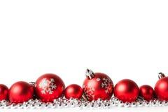 piłek bożych narodzeń czerwony biel Obraz Royalty Free