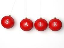 piłek bożych narodzeń odosobniony czerwony sprzedaży biel Zdjęcia Stock