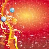 piłek bożych narodzeń płatków śniegów gwiazd fala ilustracji