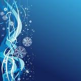 piłek bożych narodzeń płatków śniegów gwiazd fala ilustracja wektor