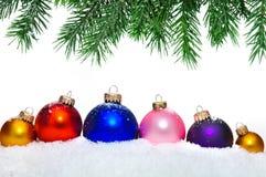 piłek bożych narodzeń zamknięty dekoracyjny drzewo dekoracyjny Zdjęcie Stock