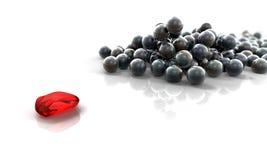 piłek czerwieni kamień Zdjęcia Royalty Free