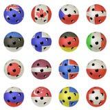 piłek flaga floorball zdjęcie royalty free