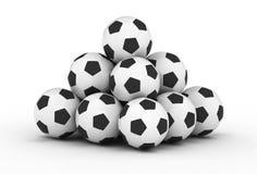 piłek futbolowa piłki nożnej sterta Zdjęcia Stock