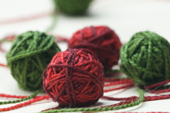piłek gejtawu bawełny zieleni czerwień Obraz Stock