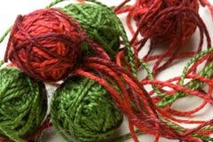 piłek gejtawu bawełny zieleni czerwień Zdjęcia Royalty Free