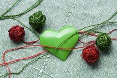 piłek gejtawu cztery zielony serca żelaza kształt Obrazy Stock
