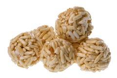 piłek krakersa odosobneni ryż Zdjęcie Stock