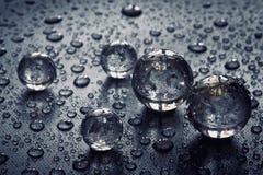piłek kropelek szkła woda Fotografia Stock