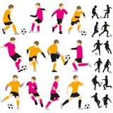 Piłek nożnych dzieci chłopiec futbolowy bawić się Ilustracji
