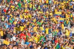 Piłek nożnych fan podczas Copa Ameryka Centenario Zdjęcie Royalty Free