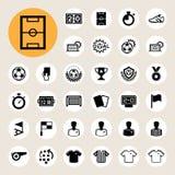 Piłek nożnych ikony ustawiać. Zdjęcie Royalty Free