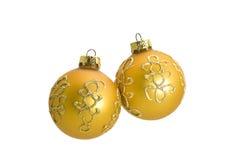 piłek piękna bożych narodzeń dekoracja dwa zdjęcie royalty free