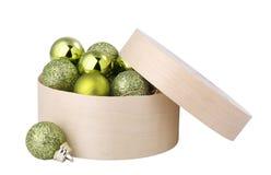 piłek pudełka zieleni nowy s rok fotografia stock
