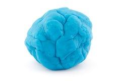 Piłka błękitny sztuki ciasto na bielu Fotografia Royalty Free
