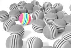 piłka barwiąca Fotografia Stock