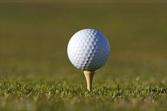 piłka do golfa tee Obraz Stock