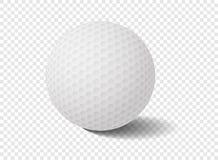 piłka golfowa na przezroczystości siatce - Wektorowa ilustracja Ilustracji