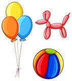 Piłka i balony Obrazy Royalty Free