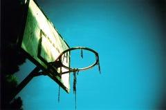 piłka koszyka pierścionek Obraz Stock