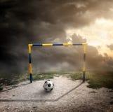 Piłka na polu Zdjęcie Stock