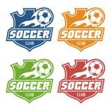 Piłka nożna świetlicowy emblemat Obraz Stock