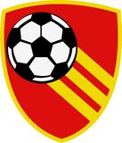 Piłka nożna Świetlicowy logo Obrazy Royalty Free