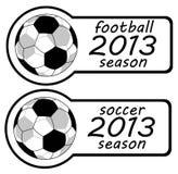 piłka nożna 2013 szyldowego rok Obraz Royalty Free