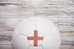 Piłka nożna: Anglia piłki nożnej piłki tło Dla Międzynarodowego Competi Obrazy Stock