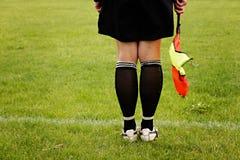 Piłka nożna arbiter Zdjęcie Royalty Free