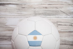 Piłka nożna: Argentyna piłki nożnej piłki tło Dla Międzynarodowego Compe Zdjęcie Stock