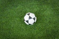 piłka nożna balowy czarny biel Fotografia Stock