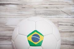 Piłka nożna: Brasil piłki nożnej piłki tło Dla Międzynarodowego Competit Zdjęcie Stock