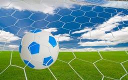 Piłka nożna cel zdjęcie royalty free