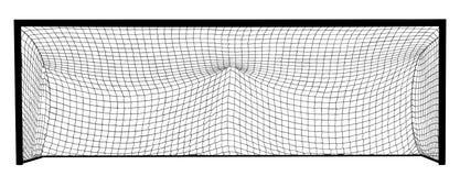 Piłka nożna celu sieci budowy wektoru sylwetka Pusty futbolowy cel Obraz Stock