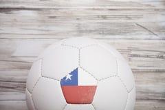 Piłka nożna: Chile piłki nożnej piłki tło Dla Międzynarodowego Competiti Fotografia Stock