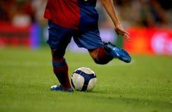 piłka nożna działań Zdjęcie Stock