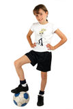 piłka nożna dziewczyny Fotografia Stock