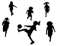 piłka nożna dziewczyny gry Zdjęcie Royalty Free