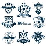 Piłka nożna emblematy Obraz Royalty Free