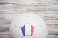 Piłka nożna: Francja piłki nożnej piłki tło Dla Międzynarodowego Competit Zdjęcia Stock