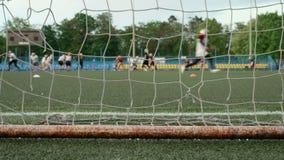 Piłka nożna futbol amerykański i bramy Gładzi suwaka strzał i zwalnia zbiory wideo