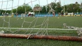 Piłka nożna futbol amerykański i bramy Gładzi suwaka strzał i zwalnia zdjęcie wideo