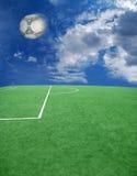 piłka nożna futbolowy temat Obrazy Royalty Free