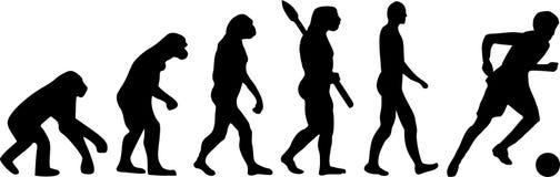 Piłka nożna futbolu ewolucja royalty ilustracja